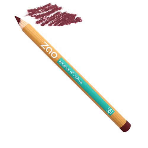 crayon à lèvre ocre rouge Zao Makeup slow cosmétique