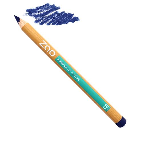 crayon bleu Zao makeup, slow cosmétique