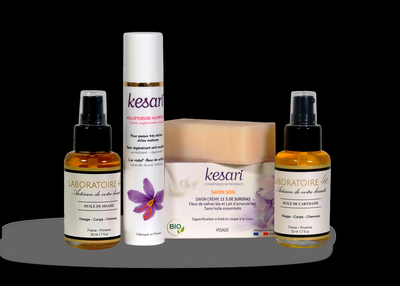 pack visage peau mature et sèche kesair laboratoire 4E Cosmétique BIIO