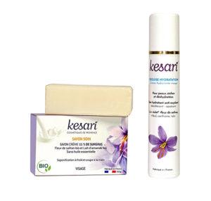 Savon et crème Kesari pour peaux atopiques